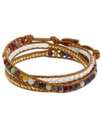 Chan Luu - Silver & Leather Wrap Bracelet - Lyst