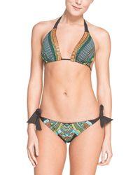 Nanette Lepore - Vamp Mayan Riviera Black Embroidered Tie Bottom - Lyst