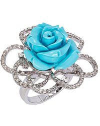 Le Vian - ? Silver 10.80 Ct. Tw. Turquoise & Topaz Ring - Lyst