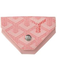 Goyard - Pink Ine Canvas & Leather Triangle Coin Pouch - Lyst