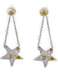 Pomellato - 18k 0.70 Ct. Tw. Diamond & Sapphire Drop Earrings - Lyst