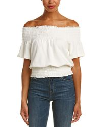 Plenty by Tracy Reese - Smocked Top - Lyst