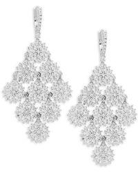 Saks Fifth Avenue - Crystal & Silver Solid Fill Dangle & Drop Earrings - Lyst
