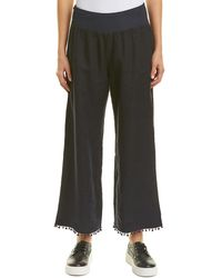 139fed8ee7 Three Dots Beach Terry Flare Crop Pant in Blue - Lyst