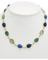 Carolee - True Blue 12k Plated Collar Necklace - Lyst