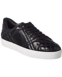 Burberry Check-quilted Leather Sneaker