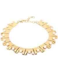 Lele Sadoughi - 14k Plated Necklace - Lyst