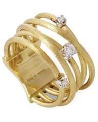 Marco Bicego - Luce 18k Yellow Gold 0.16 Ct. Tw. Diamond Ring - Lyst