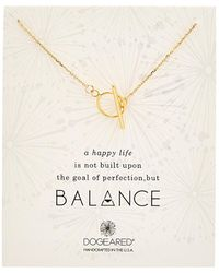 Dogeared - Balance 14k Over Silver Necklace - Lyst