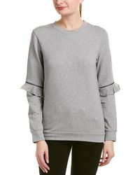 Lea & Viola - Zippered Sleeve Sweatshirt - Lyst