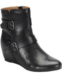 Comfortiva - Ramika Leather Ankle Bootie - Lyst