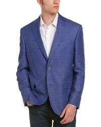 David Donahue - Connor Classic Fit Wool & Linen-blend Sportcoat - Lyst