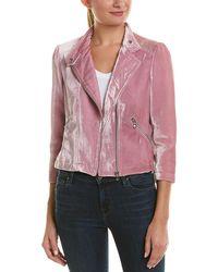 Rebecca Taylor - Velvet Silk-blend Moto Jacket - Lyst