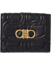 Ferragamo - Gancini Quilted Leather French Wallet - Lyst