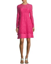Mikael Aghal - Lace Overlay Dress - Lyst