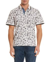 Robert Graham - Missile Classic Fit Polo Shirt - Lyst