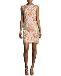 Donna Ricco - Floral Embroidery Dress - Lyst