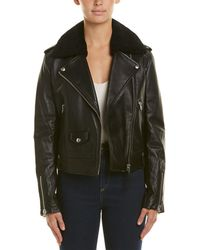 Mackage - Leather Down Jacket - Lyst