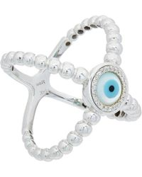 Diana M. Jewels - . Fine Jewelry 14k 0.10 Ct. Tw. Diamond Evil Eye Ring - Lyst