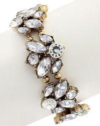 Sparkling Sage - 14k Plated Crystal & Resin Stretch Bracelet - Lyst