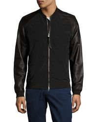 J.Lindeberg - Thommy Zip Memo Leather Jacket - Lyst