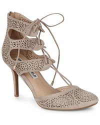 Karl Lagerfeld - Paris Joslyn Lasercut Lace-up Heel - Lyst