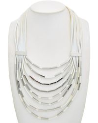 Lafayette 148 New York - Leather 30in Necklace - Lyst