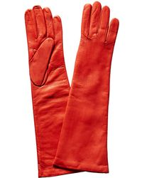 Portolano - Poppy Red Cashmere-lined Leather Gloves - Lyst