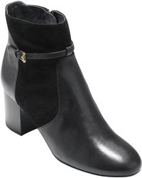 Cole Haan - Paulina Grand Leather & Suede Bootie - Lyst
