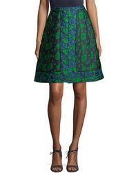 Oscar de la Renta - Floral Patch Skirt - Lyst