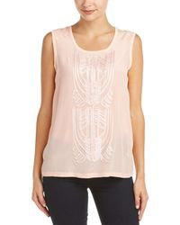Robert Graham - Babette Silk Panel Knit Top - Lyst