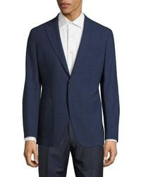 Saks Fifth Avenue - Modern-fit Wool & Linen Check Jacket - Lyst
