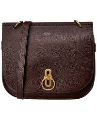 Mulberry - Amberley Satchel Bag In Oxblood - Lyst