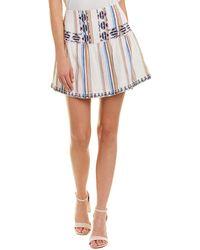 Love Sam - Sarah Embroidered Skirt - Lyst