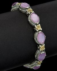 Konstantino - Iliada 18k & Silver 30.00 Ct. Tw. Mother-of-pearl Gemstone Doublet bracelet - Lyst