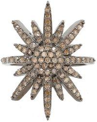 Adornia - Fine Silver 0.80 Ct. Tw. Diamond Ring - Lyst