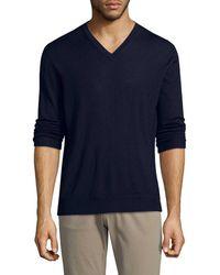 Ermenegildo Zegna - Cashmere Blend V-neck Sweater - Lyst