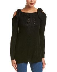 Haute Rogue - Cold-shoulder Sweater - Lyst