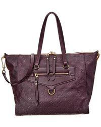 Louis Vuitton - Purple Monogram Empreinte Leather Lumineuse Pm - Lyst