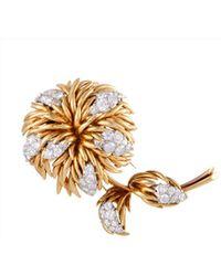 Heritage Van Cleef & Arpels - Van Cleef & Arpels 18k Two-tone 4.30 Ct. Tw. Diamond Brooch - Lyst
