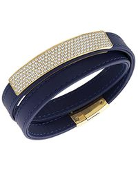 Swarovski - Crystal Plated Vio Wrap Bracelet - Lyst