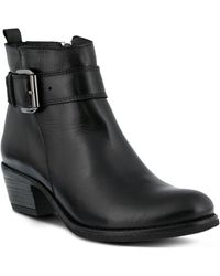 Spring Step - Isaia Leather Bootie - Lyst