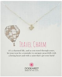 Dogeared - Travel Silver Fleur De Lis Necklace - Lyst