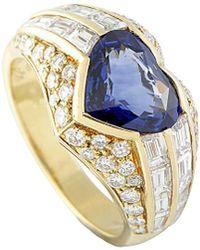 BVLGARI - Bulgari 18k 4.74 Ct. Tw. Diamond & Sapphire Ring - Lyst