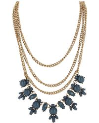 Sparkling Sage - Plated Resin Necklace - Lyst