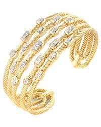 David Yurman - David Yurman Confetti 18k 0.55 Ct. Tw. Diamond Cuff Bracelet - Lyst