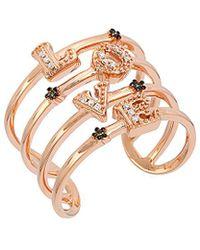 Le Vian - ? 14k Rose Gold 0.07 Ct. Tw. Diamond Ring - Lyst