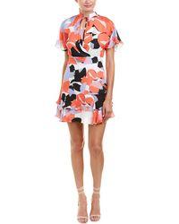 Parker - Natalie Silk A-line Dress - Lyst