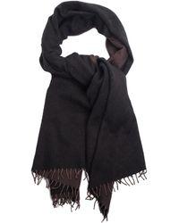 Hermès - Dark Brown & Gray Cashmere & Wool-blend Fringe Trim Scarf - Lyst