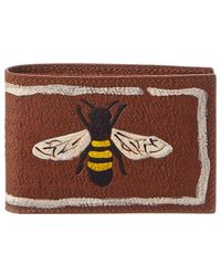 Gucci - Bee Leather Wallet - Lyst